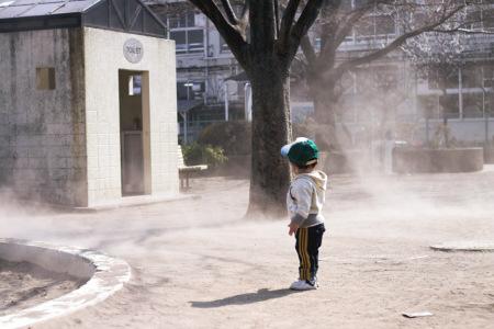 颯太と砂煙