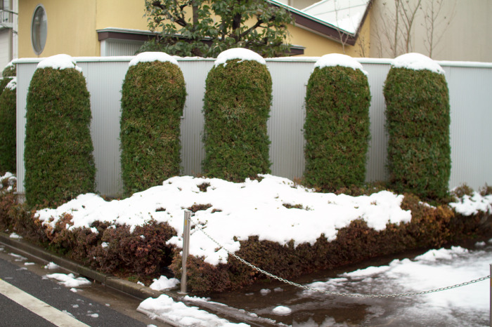 雪景色・笠地蔵