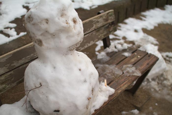 雪景色・雪だるま