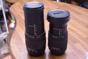 SIGMA 28-300mm F3.5-6.3 MACRO + SIGMA 17-70mm F2.8-4.5 DC MACRO