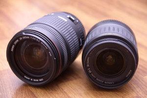 SIGMA 28-300mm F3.5-6.3 MACRO + CANON EF-S 18-55mm F3.5-5.6 USM